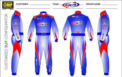 OMP Kart racing suits made in italy for CKR Karts Usa located in Boise Idaho.