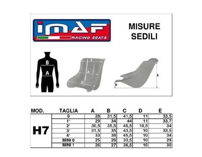 IMAF Seat - Kart racing seats from IMAF. Italy importer CKR USA from Boise Idaho
