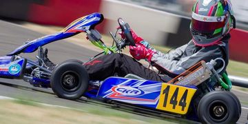 Kyle Keenan CKR USA Shifter Kart with Swedetech Honda at O2s Can-AM Karting McMinnville PARC