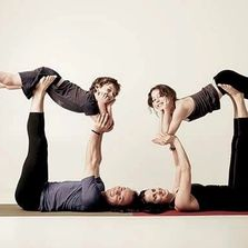 Family acroyoga classes in Fremantle. Our fun yoga family sharing together.
