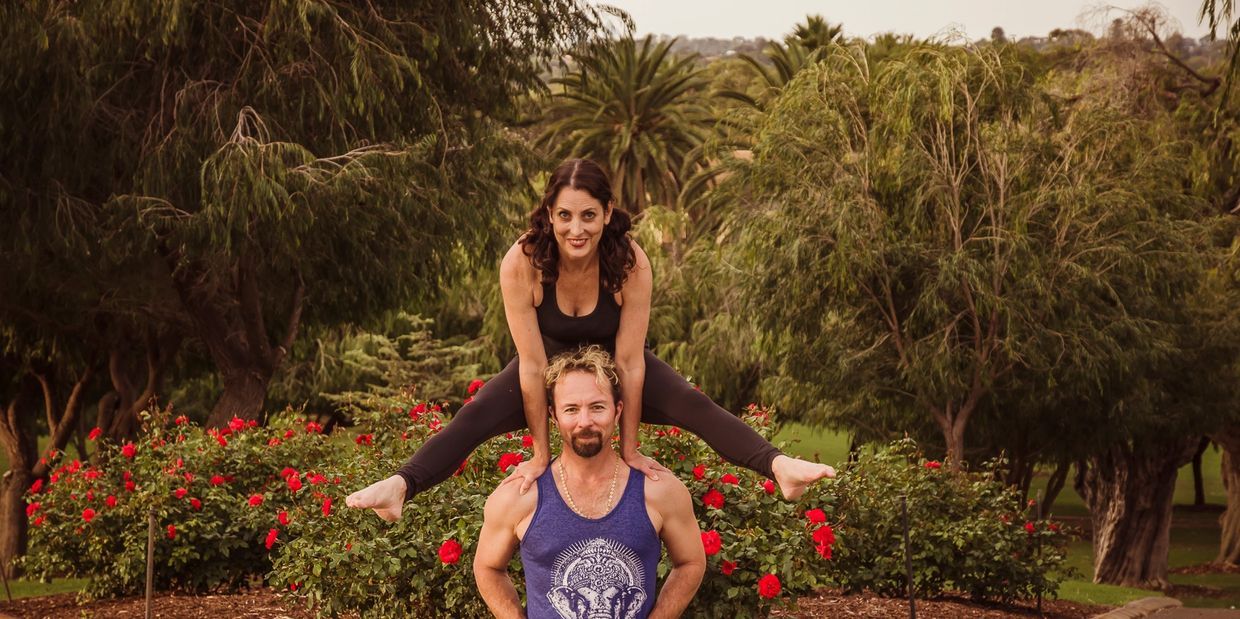 Jo & Pepi at Yoga Grooves. Yoga and Acroyoga classes in Fremantle and Perth