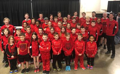 41 Team KNW athletes, ages 7 - 51 yrs old, at the 2020 World Championships in Greensboro, NC.