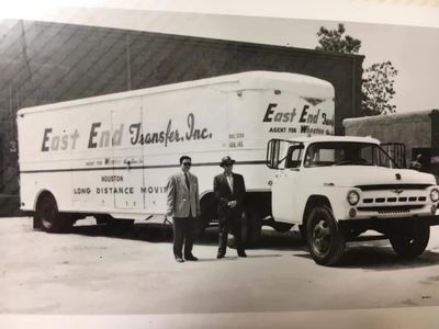 Richard Gibson, founder of East End Transfer pictured with one of Houstons first moving trucks
