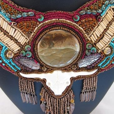 Bead Embroidered Statement Collar