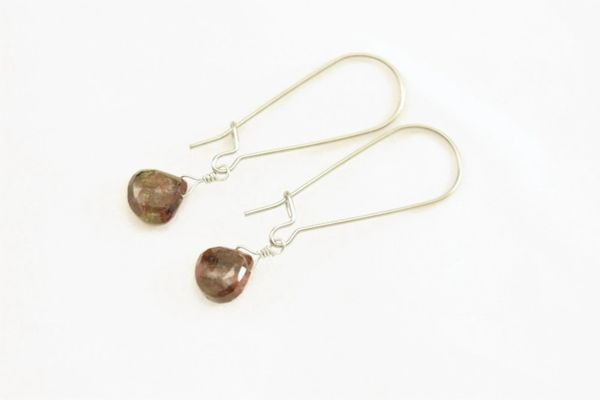 Rare Andalusite earrings Remarkable stone