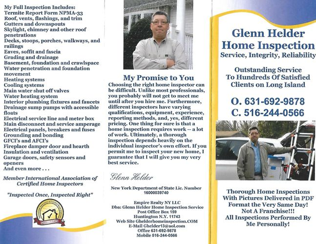 home inspector glenn helder servingnassausuffolk queenshome inspection