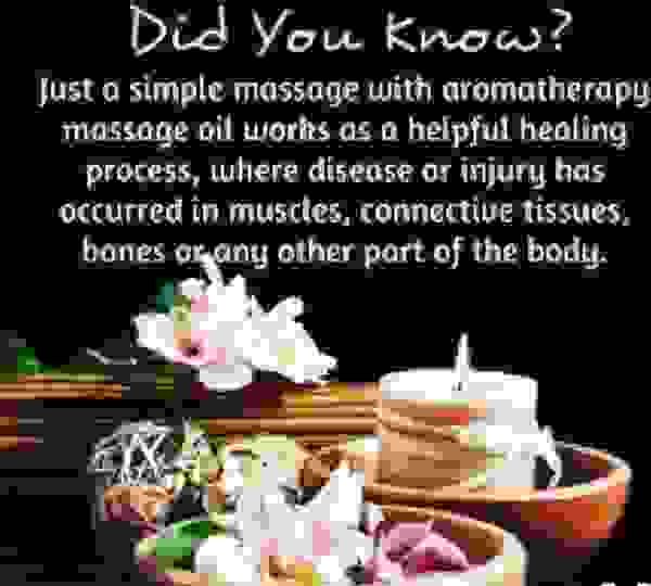 Aromatherapy is included for free during our massage sessions