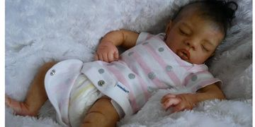 African AA Ethnic Reborn Baby Doll Black