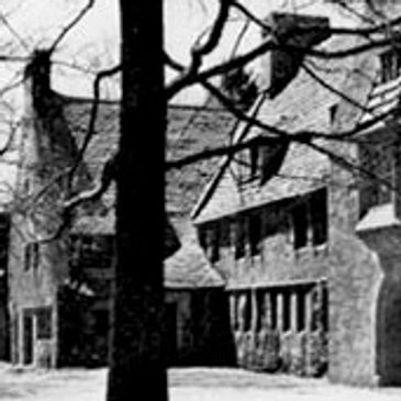 Scene of Old Farms Hospital in 1945 at Avon, Connecticut.