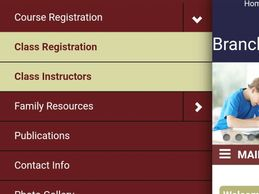 "Click on ""course registration"" and then ""class registration"""