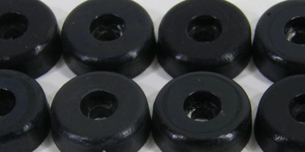 black rubber bumpers