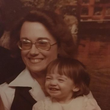 Megan and her Mom 1977