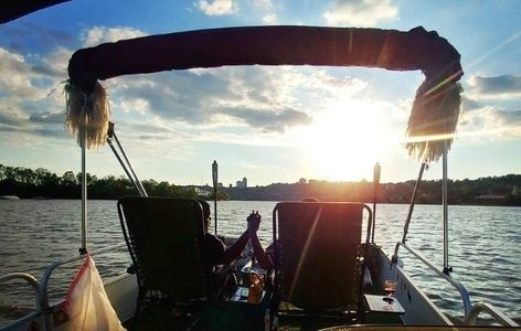 A romantic sunset cruise on the Ohio river