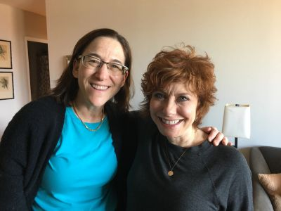 Cheryl Stern with Author, Karen Treiger