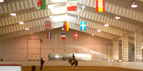 Our beautiful indoor arena at Stellar is a great place to have a lesson