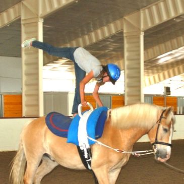 Vaulting is an ideal activity for children and teens.