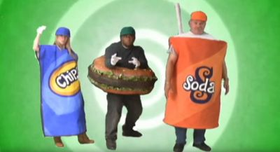 "FEEL ADDICTED TO SUGARY FOODS & LIKE  SODA GOES POP MAN  (PORTRAYED BY ALLAN GITLIN ""G-MAN""),"
