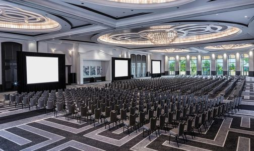 Conference room for corporate meeting
