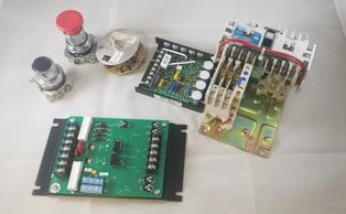 Electrical components for Didde press. Jog button, run button stop button.