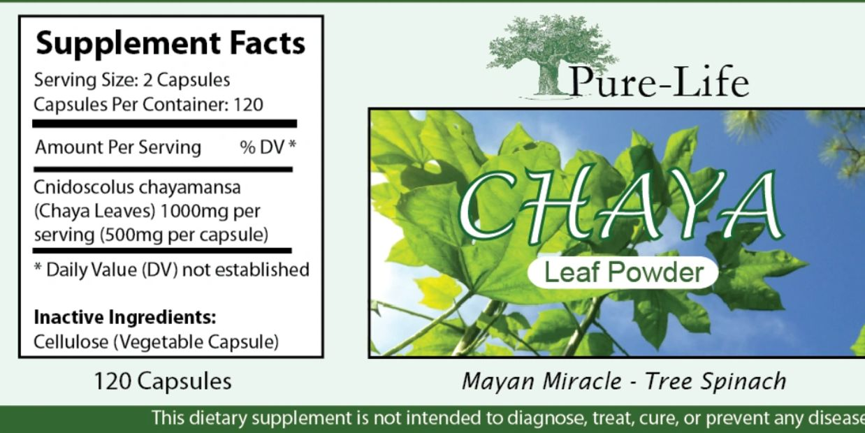 Chaya leaf powder supplements pure-life.com only the best diabetes medicine from nature superfood