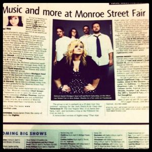 The Monroe Street Fair featured in the entertainment section of the Detroit Free Press.