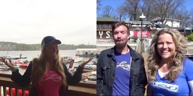 Rebekah & Kyle with Wassup at the Lake sportin' their LAKE30 swag in Lake of the Ozarks!