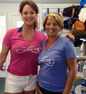 Dalena Ditto, Branson's 2x Female Entertainer of the Year, sportin' her LAKE30 shirt!