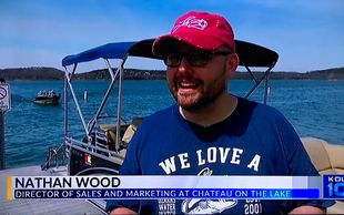 Nathan Wood, Director of Sales, Chateau on the Lake sportin' his Lake30 Hat!