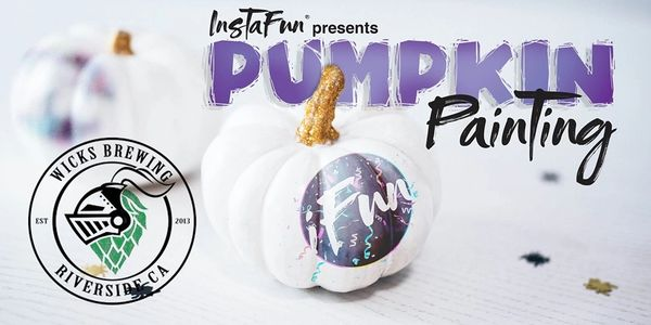Wick's brewery pumpkin painting and sip in Riverside.