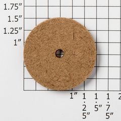 "1 1/2"" tempered hardboard disk for custom Teddy Bear Artists, jointed stuffed teddy bears."