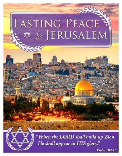 Lasting peace for Jerusalem