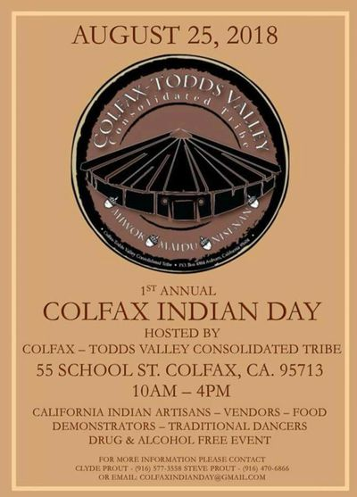 Colfax Indian Day 2018