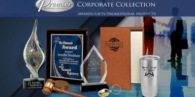 Premier Corporate Awards feature the finest laser engraved awards, gifts or promotional items.
