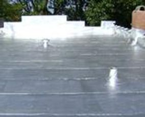 picture of coating on a flat top roof repair