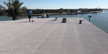 picture of a flat top roof replacement in sarasota florida