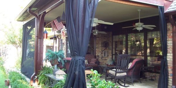 bugs patio drapes mosquitoes awnings screens netting prevention protection porch