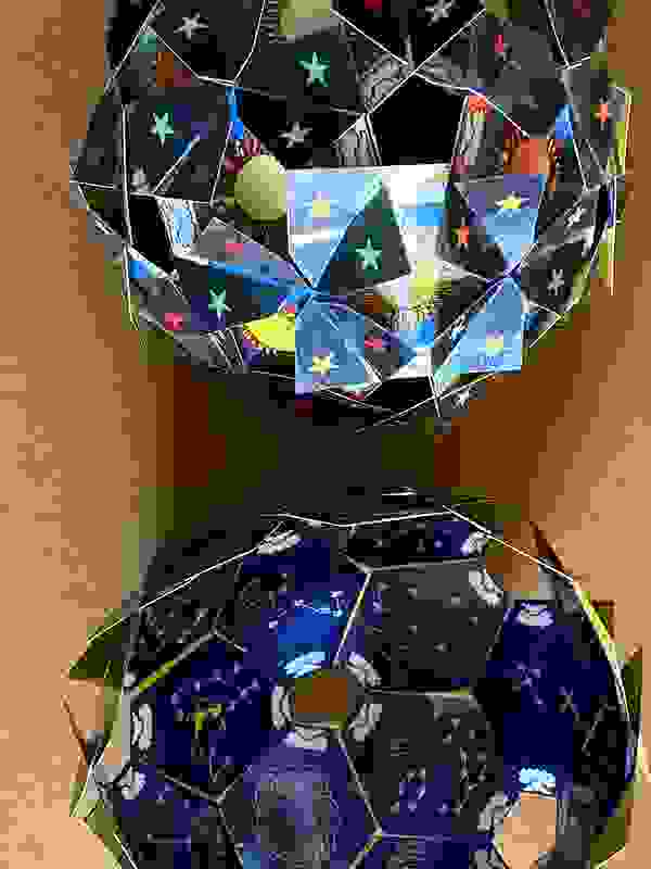 Full color spherical made of squares.