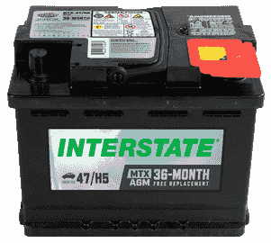 Interstate Dual Purpose MTX battery, AGM battery