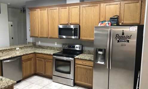 before picture of cabinet refinishing Winter Garden Fl 34787 kitchen cabinet painting