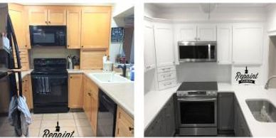 professional kitchen cabinet painting Orlando Fl 32803  cabinet refinishing by Repaint Florida