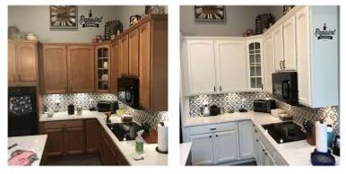 kitchen cabinet refinishing St Cloud Fl 34771 before after picture