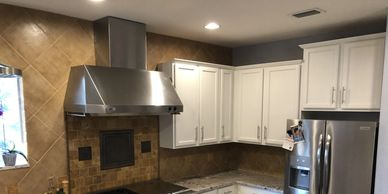 kitchen cabinet painted white lake mary fl 32746 by Repaint Florida