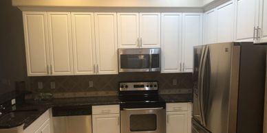 kitchen cabinets painted white in Clermont Fl 34715 by Repaint Florida