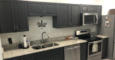 kitchen cabinet painted cracked pepper in orlando fl 32821