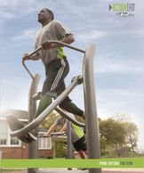 Outdoor fitness equipment.