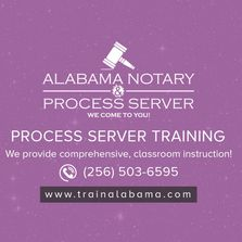 process server training near me, alabama process server, private investigator training, online