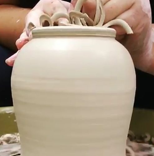 Trimming pottery
