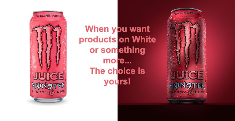 Chicago Product photographer - products on white photography and more - Monster Cans