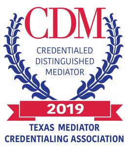 Barry Wernick Credentialed Distinguished Mediator Texas Mediator Credentialing Association