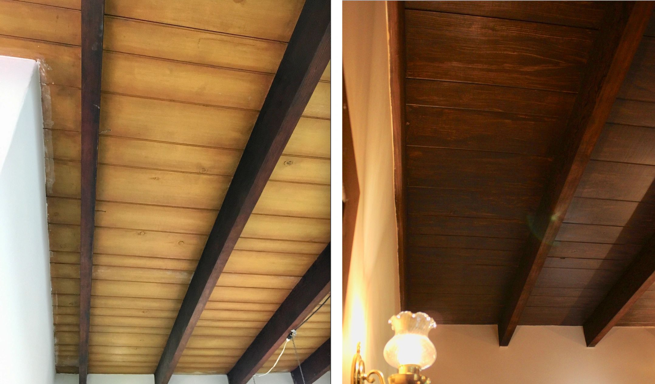 "{""blocks"":[{""key"":""3sk28"",""text"":""Faux finish painting (right) over 1960's ochre paint treatment to make beams look stained as they were originally."",""type"":""unstyled"",""depth"":0,""inlineStyleRanges"":[{""offset"":21,""length"":7,""style"":""ITALIC""}],""entityRanges"":[],""data"":{}}],""entityMap"":{}}"